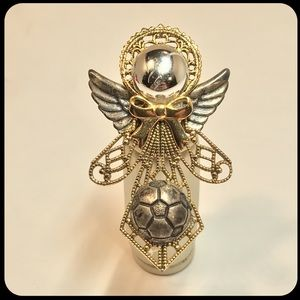 Guardian Angel Themed Vintage Antique Pin, Brooch